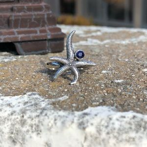 Jewelry - Sapphire Indian Sterling Silver Starfish Ring Sz 7